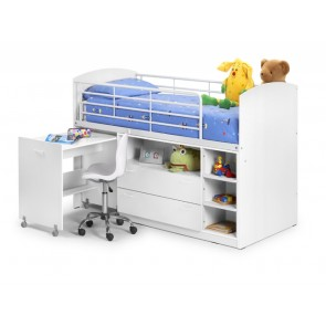 Leo White Single Cabin Bed