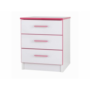 Modern Kiddi Pink Bedside Table
