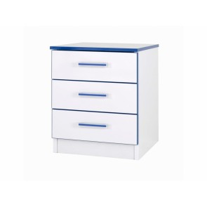 Modern Kiddi Blue Bedside Table