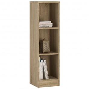 Empire Medium Narrow Bookcase in Sonama Oak
