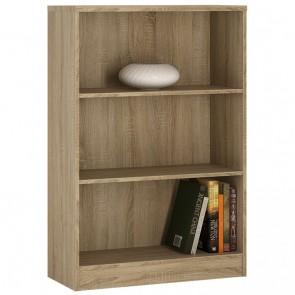 Empire Medium Wide Bookcase in Sonama Oak