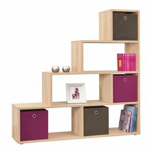 Empire Room Divider Bookcase in Sonama Oak