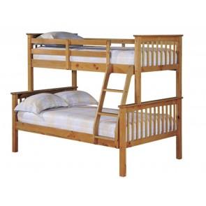 Otto Trio Bunk Bed Antique Wax Pine