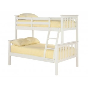 Otto Trio Bunk Bed Solid Off White Wooden