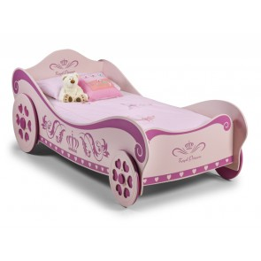 Princess Charlotte Single Bed Pink Carriage