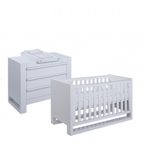 Tutti Bambini Rimini 2 Piece Room Set - High Gloss White