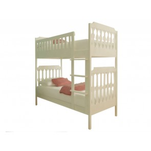 Sugar & Spice White Bunk Bed