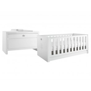 Tutti Bambini Sovereign 2 Piece Room Set - High Gloss White