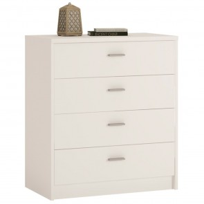 Empire 4 Drawer Chest Pearl White