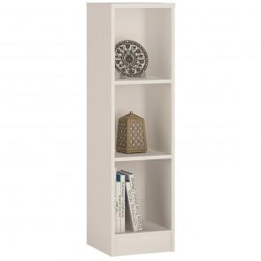 Empire Medium Narrow Bookcase in Pearl White
