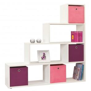 Empire Room Divider Bookcase in Pearl White