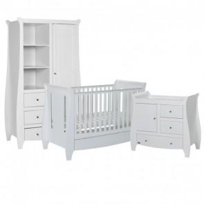 Tutti Bambini 3 Piece Lucas Sleigh Room Set - White