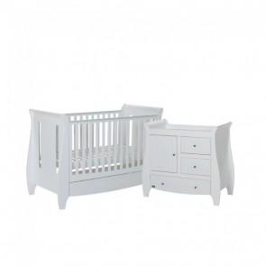 Tutti Bambini 2 Piece Lucas Sleigh Room Set - White