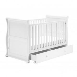 East Coast Alaska Sleigh Cot Bed - White