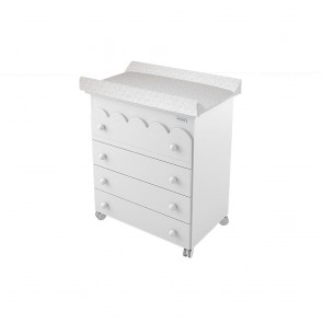 Lapsi Amelia Aran Chest of Drawers Including Intergrated Baby Bath - White