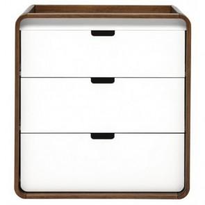 East Coast Cuba Dresser - White/Walnut