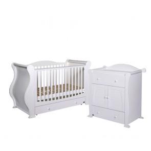 Tutti Bambini 2 Piece Marie Roomset - White