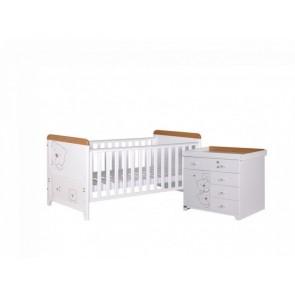 Tutti Bambini 2 Piece 3 Bears Room Set - Beech/White